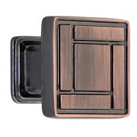 Buton pentru mobila, metalic, cupru antic, 28 x 28 x 25 mm