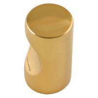 Buton pentru mobila, metalic, auriu, 11 x 21 mm
