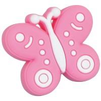 Buton pentru mobila, plastic, roz,  forma fluture
