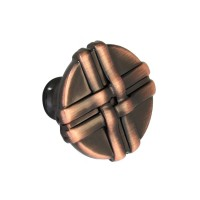 Buton pentru mobila, metalic, cupru antic, 34 x 37 mm