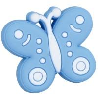 Buton pentru mobila, metalic, bleu, forma fluture, 43 x 38 x 25 mm