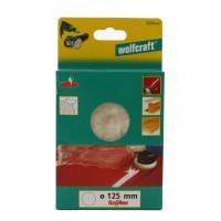 Calota de lustruire, din lana, Wolfcraft 2224000, 125 mm