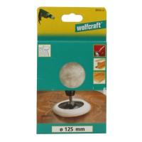 Calota de lustruire, din lana, Wolfcraft 2025000, 140 mm