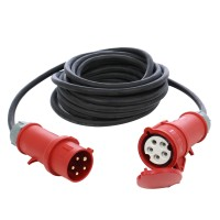 Prelungitor trifazat 6036 32A-22KW H07RNF, 10 m, 4500W, 5 x 2.5 mmp