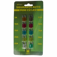Sigurante auto mini Ro Group EL1616, LED, set 7 bucati