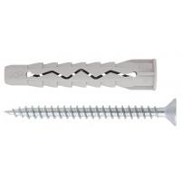 Diblu universal din plastic, cu surub cu cap inecat, Friulsider FMXP, 10 x 65 mm