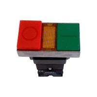 Buton Freder 32-760, verde / rosu, contact normal inchis + normal deschis, IP40