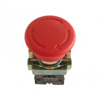 Buton ciuperca cu retinere Freder D40 32-765, contact normal inchis, IP40