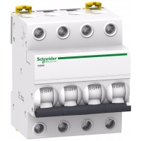 Intrerupator automat modular Schneider Electric iK60 A9K24425, 4P, 25A, curba C