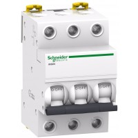 Intrerupator automat modular Schneider Electric iK60 A9K24350, 3P, 50A, curba C