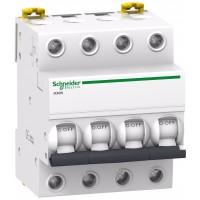 Intrerupator automat modular Schneider Electric iK60 A9K24410, 4P, 10A, curba C