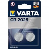 Baterie Varta Electronics CR2025 6025, 3V, litiu tip buton, 2 buc