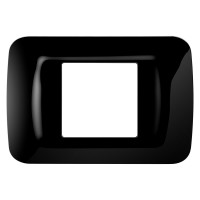 Rama Gewiss Top System GW22512, 2 module, neagra, pentru priza / intrerupator