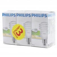 Bec economic Philips Tornado spiralat E27 23W 1570lm lumina calda 2700 K, 3 buc