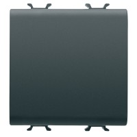 Intrerupator simplu Gewiss Chorus GW12031, incastrat, modular - 2, 16A, negru