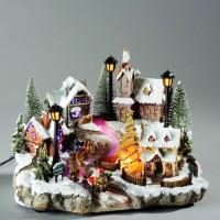 Decoratiune muzicala sat cu 6 LED-uri, Hoff, alimentare priza