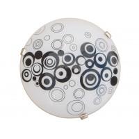 Plafoniera Raissa KL 8060, 2 x E27, alb + negru