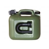Canistra din plastic, pentru combustibil, Hunersdorff, 5 L + palnie