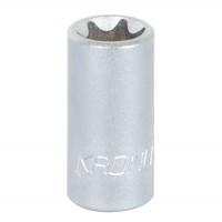 Capat cheie tubulara, profil torx interior, Kronus, E6 x 1/4 inch