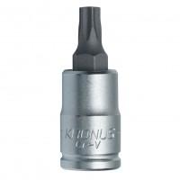 Capat cheie tubulara, profil torx exterior, Kronus, TX15 x 1/4