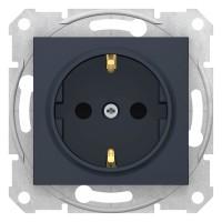 Priza simpla Schneider Electric Sedna SDN3000170, incastrata, contact de protectie, grafit