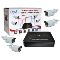 Kit supraveghere NVR 4 camere HD / IP PNI - IPMAX
