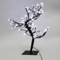 Copac cu 48 LED-uri albe cu lumina rece, Hoff, 45 cm, alimentare priza