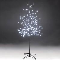 Copac cu 180 LED-uri albe cu lumina rece, Hoff, 150 cm, alimentare priza