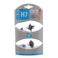 Bec auto halogen pentru far Unitec H7, 55 W, 12 V, set 2 bucati