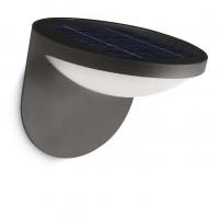 Aplica solara LED Philips Dusk 17807/93/16, aluminiu, 13.6 cm, lumina calda