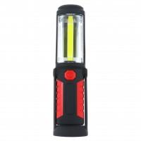 Lampa de lucru LED Hoff, 3W, reglabila, cu magnet, carlig, alimentare baterii