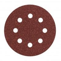 Disc abraziv cu autofixare, pentru slefuire lemn / metale, Bosch 2609256A17, 115 mm, granulatie 80, set 5 bucati