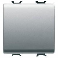 Intrerupator simplu Gewiss Chorus GW14031, incastrat, modular - 2, 16A, gri - titan