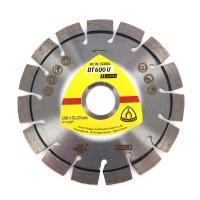 Disc diamantat, cu segmente, pentru debitare materiale de constructii, Klingspor DT 600 U Supra, 125 x 22.23 x 2.4 mm