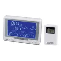 Statie meteo Konig KN-WS500N, interior / exterior, alb, ceas, functie alarma, calendar