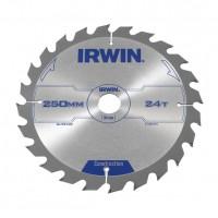 Disc circular, pentru lemn, Irwin Construction, 250 x 30 mm