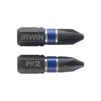 Biti de impact pentru insurubare, profil Phillips, Irwin, PH 2, 25 mm, set 2 bucati