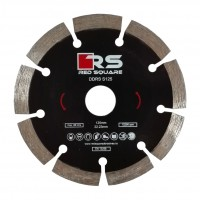 Disc diamantat, cu segmente, pentru debitare beton, Red Square DDS125, 125 x 22.2 x 2 mm