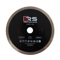Disc diamantat, continuu, pentru debitare placi ceramice, Red Square DDC180, 180 x 22.23 x 2.4 mm
