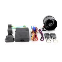 Alarma auto Carguard CAR001, 2 telecomenzi, mod mut, mod panica, senzor de soc, functie localizare vehicul, armare automata, sirena cu 6 tonuri