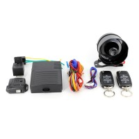 Alarma auto Carguard CAR002, 2 telecomenzi, mod mut, mod panica, senzor de soc, functie localizare vehicul, armare automata, sirena cu 6 tonuri