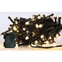 Instalatie brad Craciun, Hoff, 60 LED-uri albe cu lumina calda, 5.9 m, controler, interior / exterior, alimentare baterii