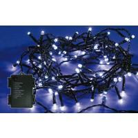 Instalatie brad Craciun, Hoff, 60 LED-uri albe cu lumina rece, 5.9 m, controler, interior / exterior, alimentare baterii