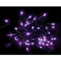 Instalatie brad Craciun, Hoff, 60 LED-uri violet, 5.9 m, controler, interior / exterior
