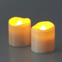 Lumanare LED, Hoff, 2 buc, alimentare baterii