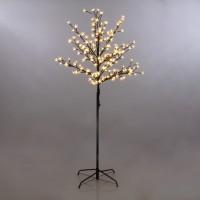 Copac cu 180 LED-uri albe cu lumina calda, Hoff, 150 cm, alimentare priza