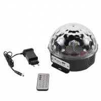 Glob disco LED Hoff Light and Music, MP3 Player, cu telecomanda