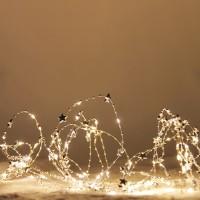 Decoratiune 6 ramuri cu 120 micro-LED-uri cu lumina calda, Hoff, alimentare priza