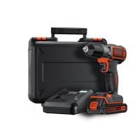 Masina de gaurit / insurubat  Black&Decker ASD14K, cu 1 acumulator, 14.4  V, 1.5 Ah + geanta depozitare