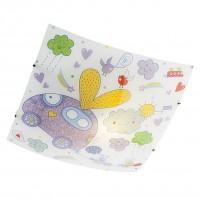 Plafoniera pentru copii Clouds 04-497, 1 x E27, multicolora